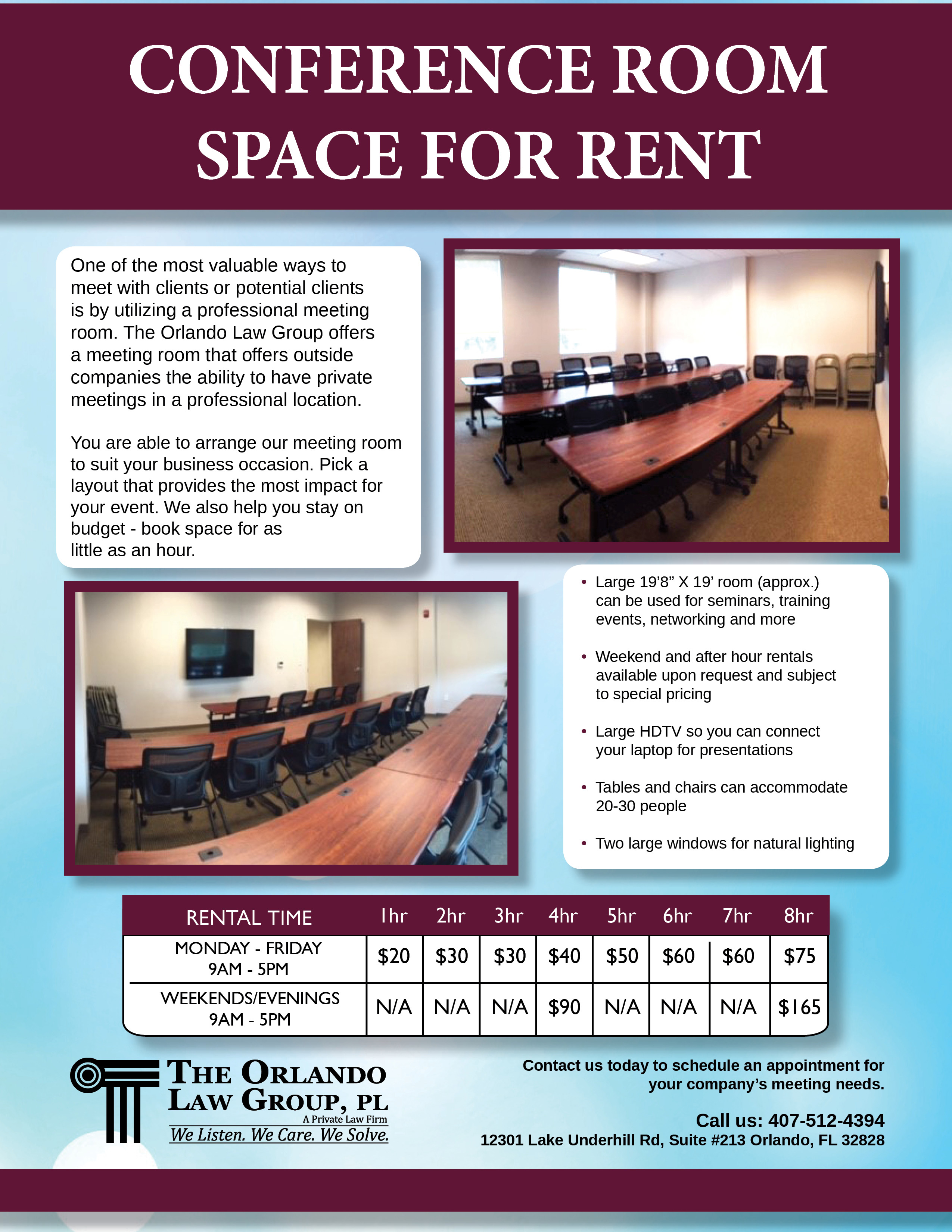 Conference Room Rentals The Orlando Law Group